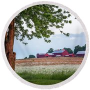 Round Beach Towel featuring the photograph Country Living by Everet Regal