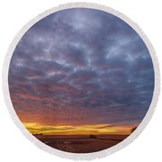 Round Beach Towel featuring the photograph Country Living by Sebastian Musial