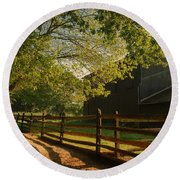 Country Morning - Holmdel Park Round Beach Towel