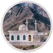 Country Mosque Round Beach Towel