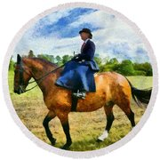 Round Beach Towel featuring the photograph Country Ride by Scott Carruthers