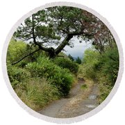 Country Road. New Zealand Round Beach Towel by Yurix Sardinelly