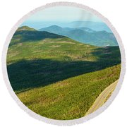 Country Road To My Home Whiteface Mountain New York Round Beach Towel by Paul Ge