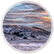 Round Beach Towel featuring the photograph Country Sky by Fiskr Larsen