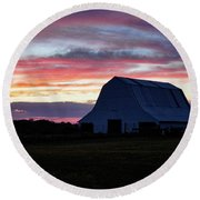 Round Beach Towel featuring the photograph Country Sunset by Cricket Hackmann