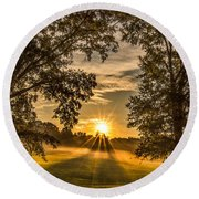 Country Time Rise Round Beach Towel