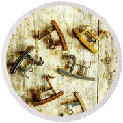Country Toy Art Round Beach Towel