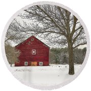 Round Beach Towel featuring the digital art Country Vermont by Sharon Batdorf