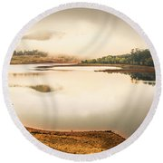 Country Waters Round Beach Towel