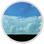 Round Beach Towel featuring the photograph Countryside by Andrea Anderegg