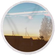 Countryside Boeing Round Beach Towel by Victor Grigoryev