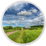 Countryside II Round Beach Towel
