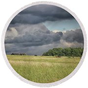 Countryside Storms Round Beach Towel