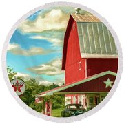 County G Classic Station Round Beach Towel by Trey Foerster