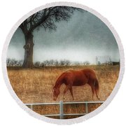 County Road 4100 Round Beach Towel