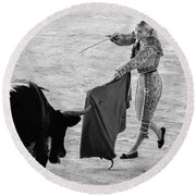 Coup De Grace In Pink Round Beach Towel