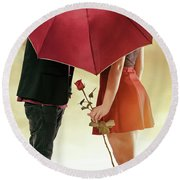 Round Beach Towel featuring the photograph Couple Of Sweethearts by Carlos Caetano