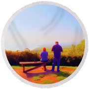 Couple Views Round Beach Towel