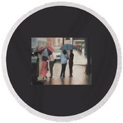 Couples Round Beach Towel