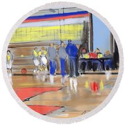 Court Side Conference Round Beach Towel