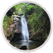 Courthouse Falls Round Beach Towel