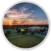 Courthouse Sunset Round Beach Towel