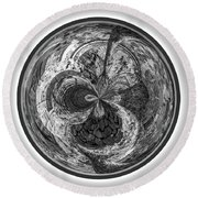 Round Beach Towel featuring the photograph Courtyard Orb by Judy Wolinsky
