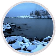 Cove Point Lodge Lake Superior Minnesota Round Beach Towel