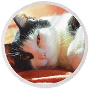Cover Girl Round Beach Towel by Jesse Ciazza