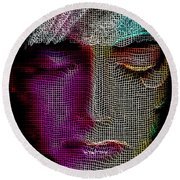 Round Beach Towel featuring the digital art Cover Up by Rafael Salazar