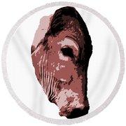Cow Head Round Beach Towel