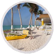 Round Beach Towel featuring the photograph Cow Wreck Bay Beach Bar 2 by Eric Glaser