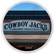 Cowboy Jack's Round Beach Towel