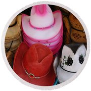 Cowgirl Hats Round Beach Towel