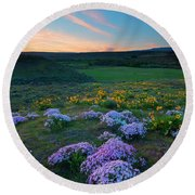 Cowiche Sunset Round Beach Towel