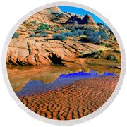 Coyote Buttes Reflection Round Beach Towel