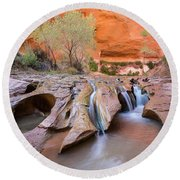 Coyote Gulch Round Beach Towel
