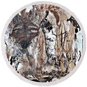 Coyote The Trickster Round Beach Towel
