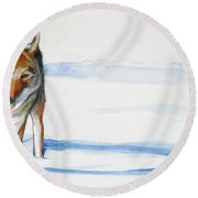 Coyote Trot Round Beach Towel