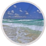 Cozumel Paradise Round Beach Towel by Chad Dutson
