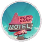 Cozy Cone Round Beach Towel by Jerry Golab
