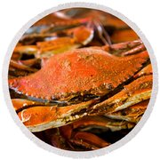 Crab Boil Round Beach Towel