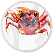 Crab Round Beach Towel by Suren Nersisyan