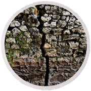 Crack In The Wall Round Beach Towel