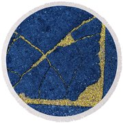 Cracked #8 Round Beach Towel