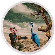 Cracked IIi - The Clown Round Beach Towel