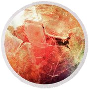 Cracks Of Colors Round Beach Towel