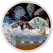 Cradle Of Aviation Museum Imax Theatre Round Beach Towel