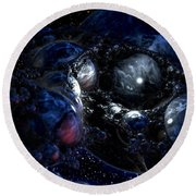 Cradle Of The Universe Round Beach Towel