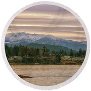 Round Beach Towel featuring the photograph Craig Bay by Randy Hall